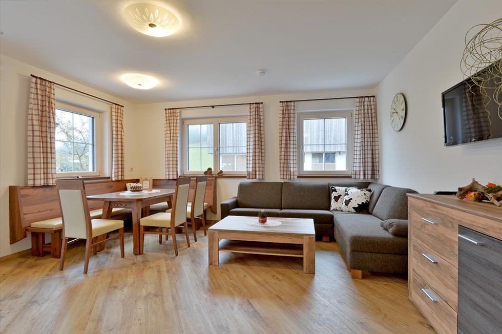 Appartement-Ellmau-Wohnzimmer